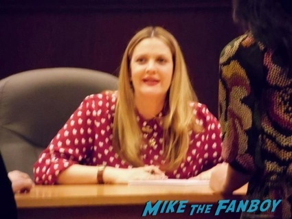 Drew Barrymore book signing autographs charlie's angels star f1