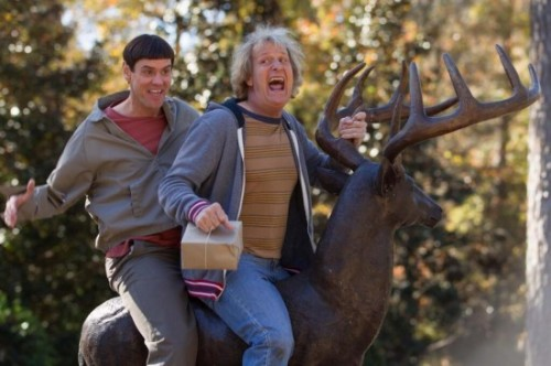 Dumb and Dumber To press promo still jeff daniels jim carrey