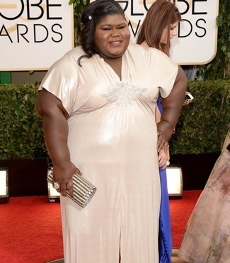 Gabourey Sidibe golden globes red carpet