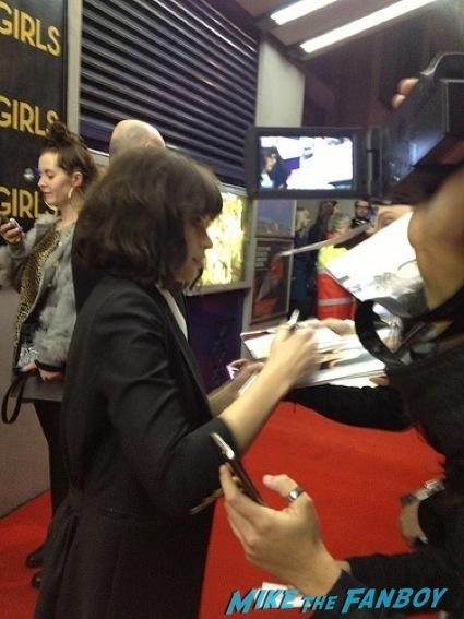 Girls UK Premiere lena dunham signing autographs allison williams14