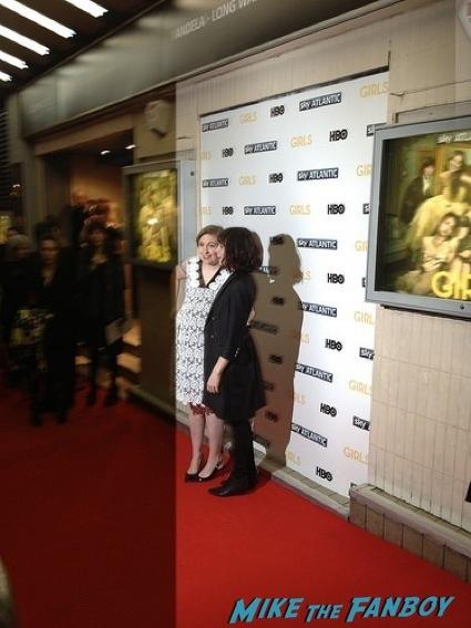 Girls UK Premiere lena dunham signing autographs allison williams15