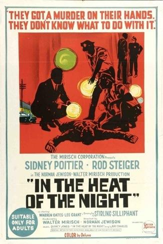 In The Heat of the night press phot still sidney poitier rod steiger2