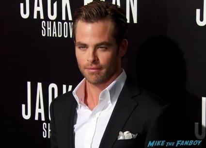 Jack Ryan: Shadow Recruit premiere chris pine red carpet1