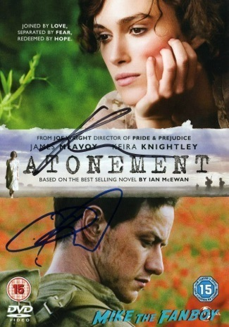 atonement signed dvd cover Jack Ryan UK Premiere Kiera Knightly signing autographs chris pine17
