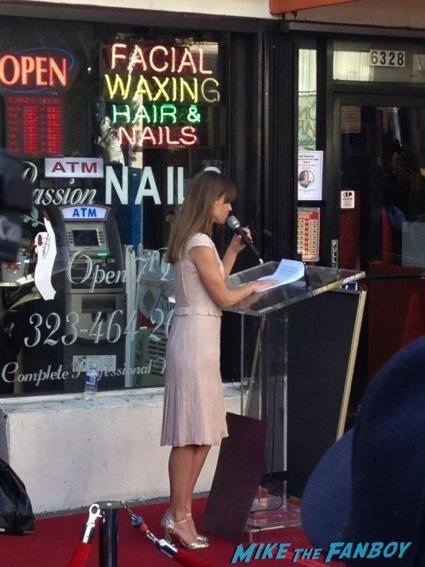 Mariska Hargitay walk of fame star ceremony signing autographs 11