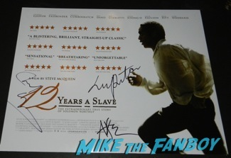 Chiwetel Ejiofor  signed autograph 12 years a slave mini poster signing autographs at the Palm Springs International Film Festival 2014 signing autographs bono sandra bullock