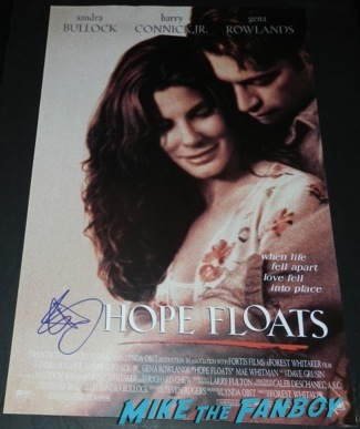 sandra bullock signed autograph hope floats mini movie poster rare Palm Springs International Film Festival 2014 signing autographs bono sandra bullock