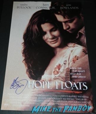sandra bullock signed autograph hope floats mini movie poster rare Palm Springs International Film Festival 2014 signing autographs bono sandra bullock