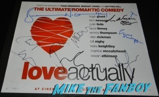 Chiwetel Ejiofor  signed autograph love actually  mini poster signing autographs at the Palm Springs International Film Festival 2014 signing autographs bono sandra bullock