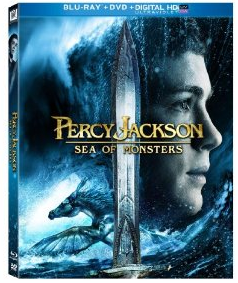 Percy jackson sea of monsters blu ray cover