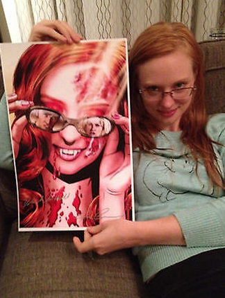 Deborah Ann Woll's true blood signed auctions for charity autograph rare