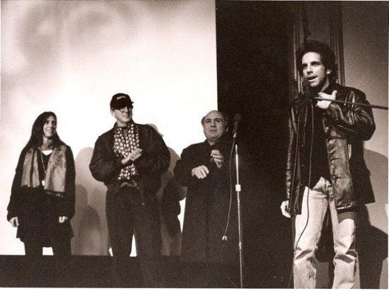 The cast of reality bites with ben stiller at sundance film festival