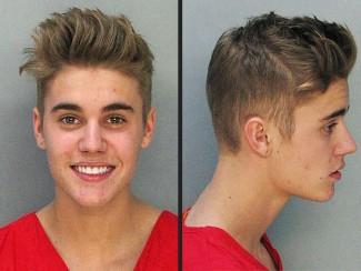 Justin bieber mugshot smiling