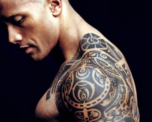 dwayne-johnson-shirtless naked muscle photo rare tattoo hd-wallpapers