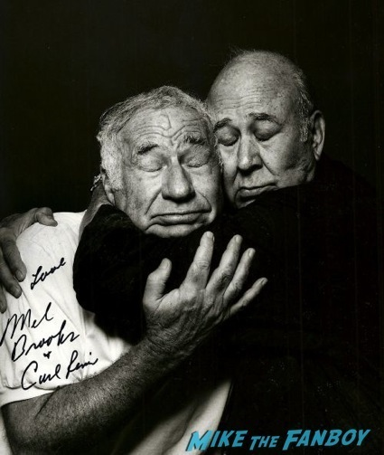 carl reiner mel books signed autograph photo