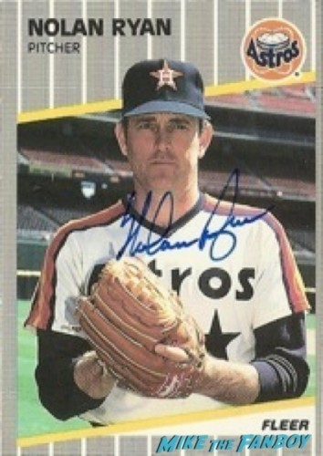 Nolan Ryan signed autograph baseball card rare