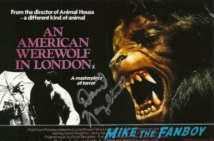 david naughton signed autograph an american werewolf in london poster rare