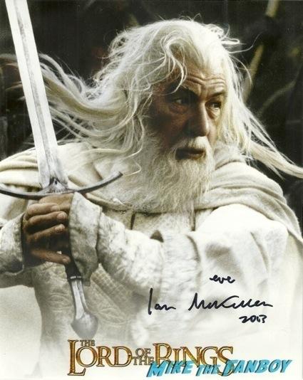 ian mckellan signed autograph rare
