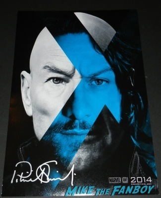 x-men days of future past signed autograph mini poster patrick stewart ian mckellen patrick stewart signed autograph 11
