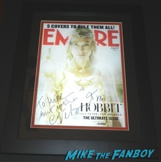 cate blanchett signed autograph empire magazine the hobbit lenticular cover rare