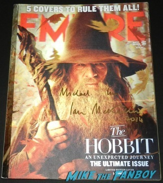 ian mckellen signed autograph empire magazine lenticular cover the hobbit patrick stewart signed autograph 5