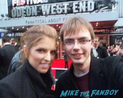 Anna Kendrick fan photo uk signing autographs