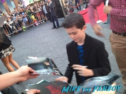 Andrew Astor signing autographs insidious 2 movie premiere autograph signing 12
