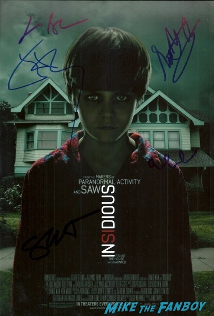 insidious chapter 2 signed autograph movie poster insidious 2 movie premiere autograph signing 5