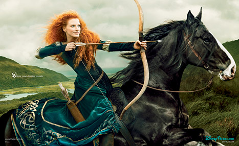 jessica chastain walt disney portrait series merida brave annie leiboviz photo