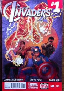 invaders 1 comic book cover rare