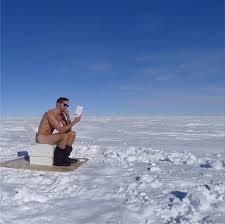 alexander skarsgard naked nude on toilet in the snow