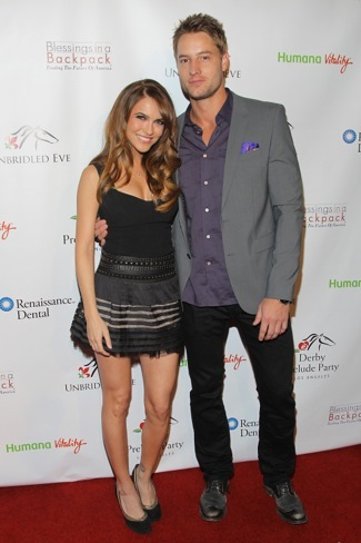 WEST HOLLYWOOD, CA - JANUARY 09: (L-R) Chrishell Stause and Justin Hartley attend the 5th Annual Unbridled Eve Derby Prelude Party at The London West Hollywood on January 9, 2014 in West Hollywood, California. (Photo by Jonathan Leibson/WireImage)
