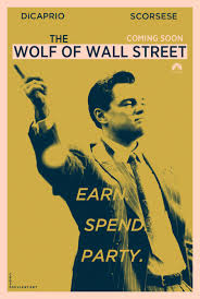 the wolf of wall street teaser movie poster leo dicaprio hot