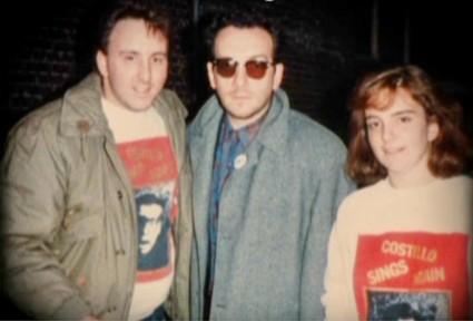 tina fey with elvis costello 1986 fan photo
