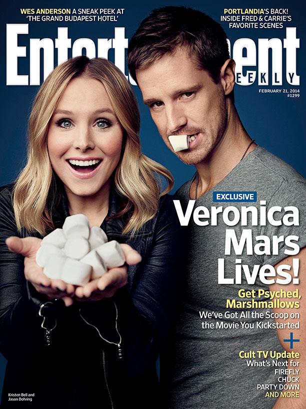 veronica mars entertainment weekly cover kristen bell jason dohring