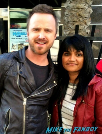 Aaron Paul meeting fans signing autographs need for speed1