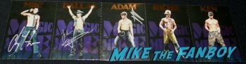 magic mike postcard set channing tatum Alex Pettyfer signing autographs jimmy kimmel live 2014 endless love12