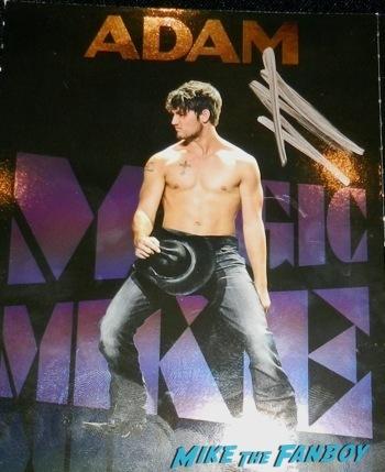magic mike postcard set channing tatum Alex Pettyfer signing autographs jimmy kimmel live 2014 endless love12