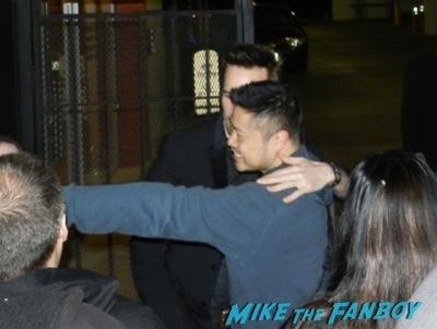 Michael Eklund signing autographs Bates Motel premiere red carpet vera Farmiga olivia Cooke14