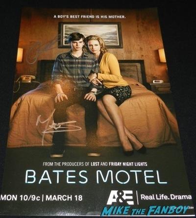 Bates Motel signed autograph season 2 promo poster premiere red carpet vera Farmiga olivia Cooke36