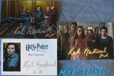 kate fleetwood harry potter signed autograph fanmail