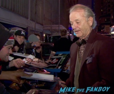 bill murray signing autographs hot Monuments Men New York Movie Premiere signing autographs george clooney 2
