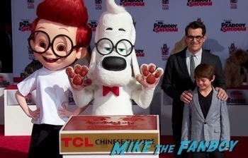 Mr. Peabody and Sherman Handprint ceremony 10
