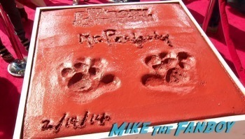 Mr. Peabody and Sherman Handprint ceremony 12
