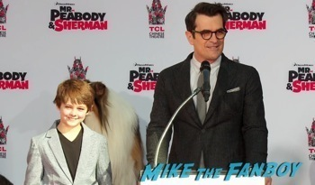 Mr. Peabody and Sherman Handprint ceremony 2