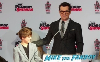 Mr. Peabody and Sherman Handprint ceremony 3