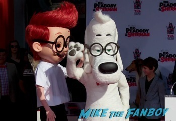 Mr. Peabody and Sherman Handprint ceremony 4