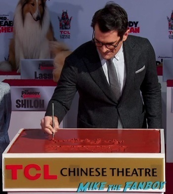 Mr. Peabody and Sherman Handprint ceremony 5