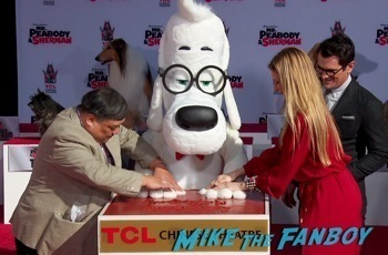 Mr. Peabody and Sherman Handprint ceremony 7