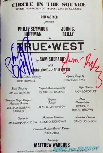 Phillip Seymour Hoffman signed autograph playbill photo talented Mr. Ripley1